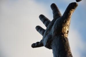 """Närbild """"Kaspers"""" hand"""